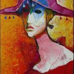 Arlekin, abstract, acrylic, painting, canvas